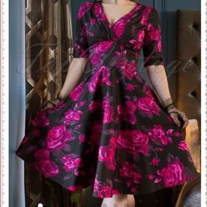 Unique Vintage Small pinup fit and flare dress
